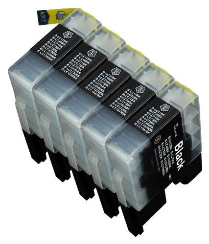 5 Multipack de alta capacidad Brother LC1240 , LC1280 Cartuchos Compatibles 5 negro para Brother DCP-J525W, DCP-J725DW, DCP-J925DW, MFC-J430W, MFC-J5910DW, MFC-J625DW, MFC-J6510DW, MFC-J6710DW, MFC-J6910DW, MFC-J825DW. Cartucho de tinta . LC-1240BK © 123 Cartucho