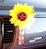 Bling My Bug VW Beetle Flower - Sunflower Pink Glasses with Universal Vase