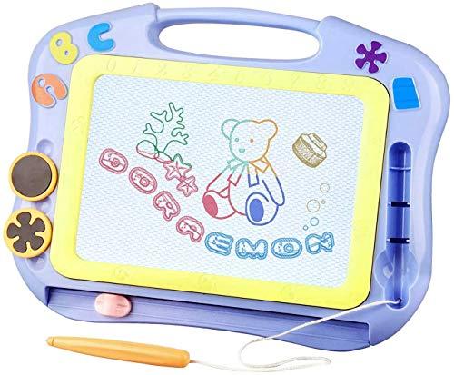 Magnetische Maltafel Zaubertafeln für Kinder, Magnettafel Zaubermaltafel Zeichentafel Reisegröße-Bunt Löschbar Zeichenbrett Lernspielzeug für Kinder Geschenk 3 4 5 Jahre alt (Blau)