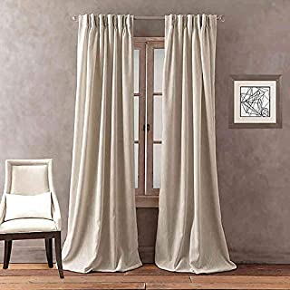 Peri Home Dayna Solid 63-Inch Pinch Pleat Window Curtain Panel in Linen