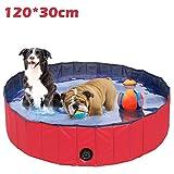 REAYOU Piscina Perros y Gatos Bañera Plegable PVC Piscina de Baño Ducha Plegable para Mascota Bañera Portátil para Perro/Gato Animales (120 * 30cm)