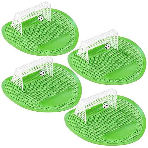 PEARL Urinal Spiel: 4er-Set Lustige Fußball-Urinal-Siebe, 18,5 x 19,5 cm, universell (Urinal Torwände)