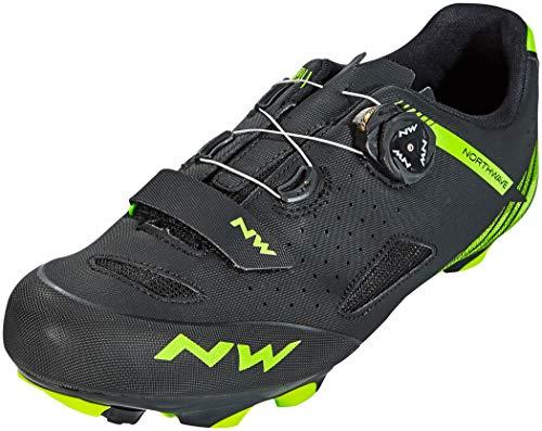 Northwave Origin Plus Bicycle Shoe Negro/Verde, Tamaño:gr. 44