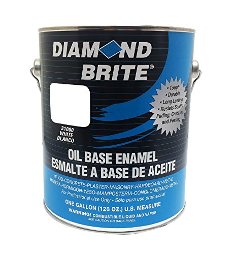 Diamond Brite Paint 31000 1-Gallon Oil Base All Purpose Enamel Paint   White