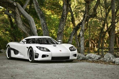 Driver Motorsports Koenigsegg CCX White Right Front HD Poster Super Car 18 X 12 Inch Print