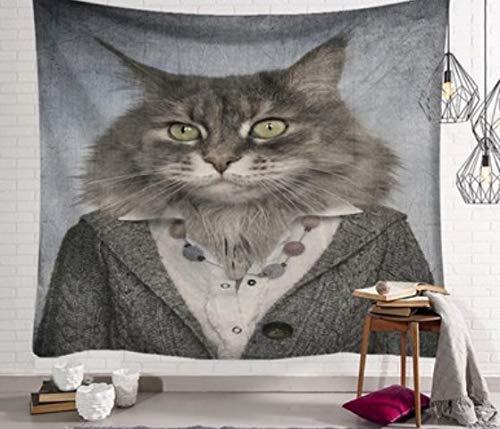 chenruihua Tapiz de impresión de Personaje de Cabeza de Animal Tela Colgante Tela de Pared Decorativa 95 * 73 cm