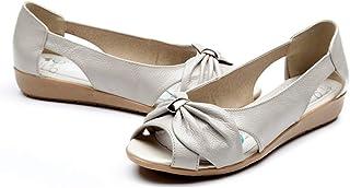 [WOOYOO] レディースサンダル 夏 パンプス オープントゥ 大きいサイズ パーティ ウェッジソール オフィスシューズ 婦人靴 冠婚葬祭 女子会 キレイめ 清楚 歩きやすい 軽量 歩きやすい 美脚 ブラック