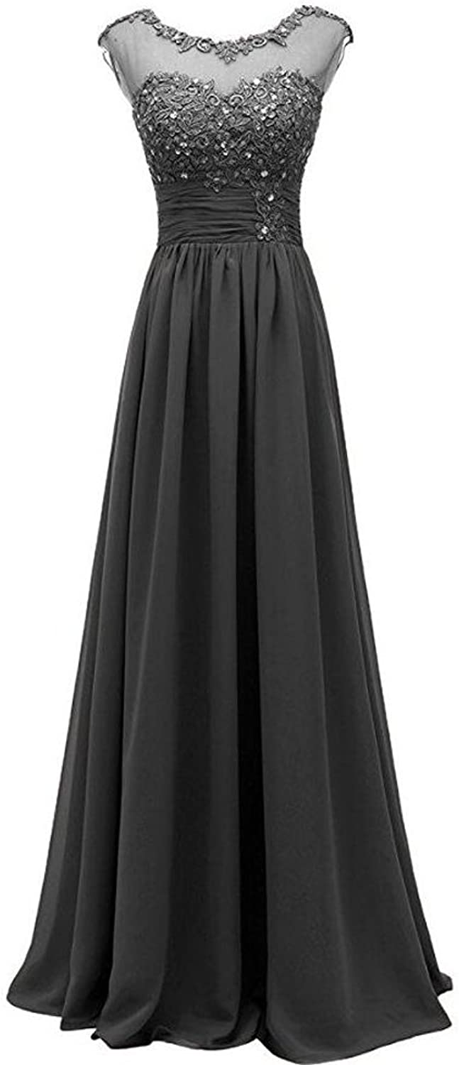 AK Beauty Women's Lace Long Prom Evening Gown Bridesmaid Dress For Wedding