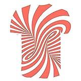 Manga Corta Hombre Verano Clásica Moda Cuello Redondo Hombre T-Shirt Básico Ajuste Regular Creativa Novedad 3D Estampado Deportiva Camisa Diaria Casual Transpirable Hombre Shirt T02 M