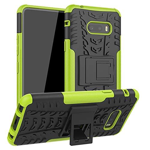 LFDZ LG V50S ThinQ 5G Hülle,Abdeckung Cover schutzhülle Tough Strong Rugged Shock Proof Heavy Duty Hülle Für LG V50S ThinQ 5G / LG G8X ThinQ [Not fit LG V50 ThinQ/LG G8S ThinQ],Grüne