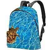 Goldfish and Aquarium Sac d'école grande capacité pour garçon et fille multicolore 06 17.3x13.7x5.5 in