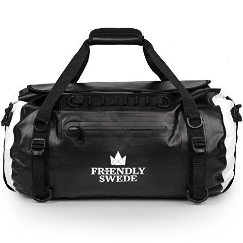 The Friendly Swede - Sac Imperméable - Sac à Dos Duffel avec Roll-Top - Sac étanche 35L, Coutures Soudées, PVC...