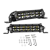 SWATOW INDUSTRIES LED Light Bar 6 Inch, 2PCS 96W Slim Dual Row Spot Flood Combo LED Pods Off Road LED Driving Lights for Truck Offroad SUV UTV ATV Boat
