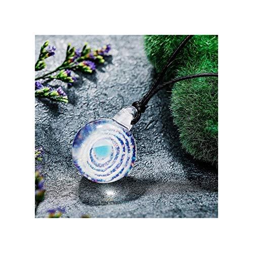 WAZG SYBLD Collar Colgante de la Media Luna, Cielo Azul y Collar de la Nube Blanca (Metal Color : DJ 620 2)
