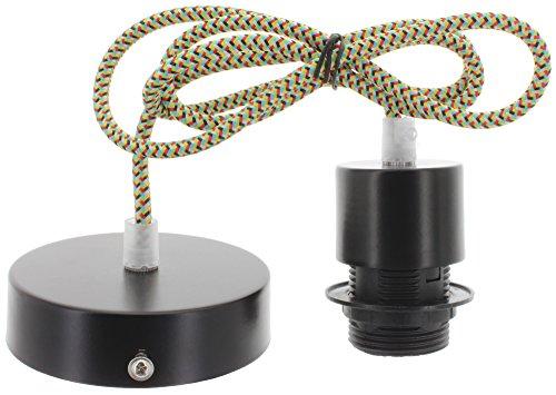 Casquillo con cable de tela y de techo de canopy colgante de lámpara de mesa con cable E27 para pared