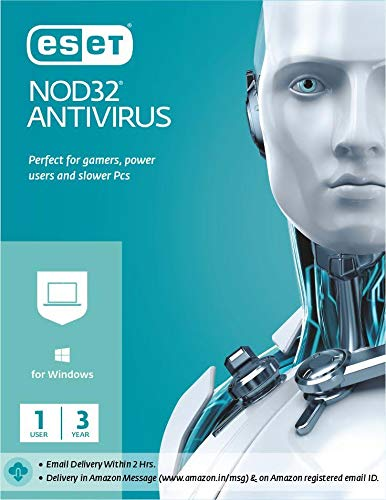 ESET NOD32 Antivirus 1 User, 3 Year (Email Delivery in 2 Hours – No CD)