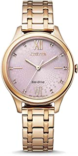CITIZEN Women's Analogue Eco-Drive Watch with Stainless Steel Strap EM0503-75X