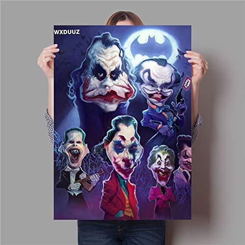 Parodie Joker Malqualität Home Decor Art Decor lebende Wandkunst Kinderzimmer Kinderzimmer Poster Leinwandmalerei60x90cm(Kein Rahmen)