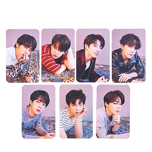 BTS 7 piezas Mini tarjetas fotográficas BTS Kpop Bangtan Boys Love Yourself: Tear Lomo Cards | Jungkook, Jimin, V, Suga, Jin, J-Hope, Rap Monster | Colección y Mejor Regalo para The ARMY (Style 02)