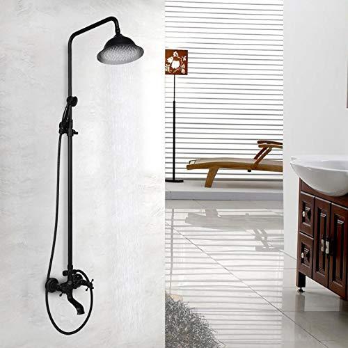 Set de ducha Montado en la pared Mezclador de lujo frotado con aceite Set de ducha Kit de ducha para rociador de mano Baño Uso doméstico
