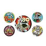 Juego de 5 botones de Looney Tunes Bugs Bunny 80 Aniversario