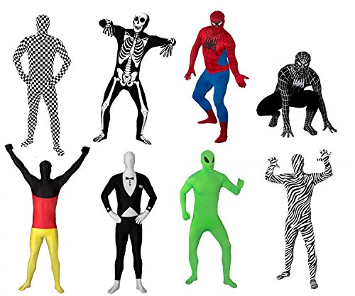Funsuits Original Leuchtskelett für Kinder Ganzkörperanzug Anzug Kostüm Gr. Kids S / Kids M / Kids L [Kids L]
