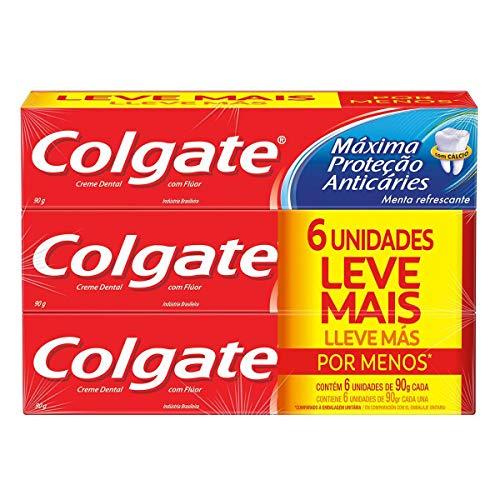 Creme Dental Colgate Máxima Proteção Anticáries 90G Promo Leve Mais Por Menos 6Un
