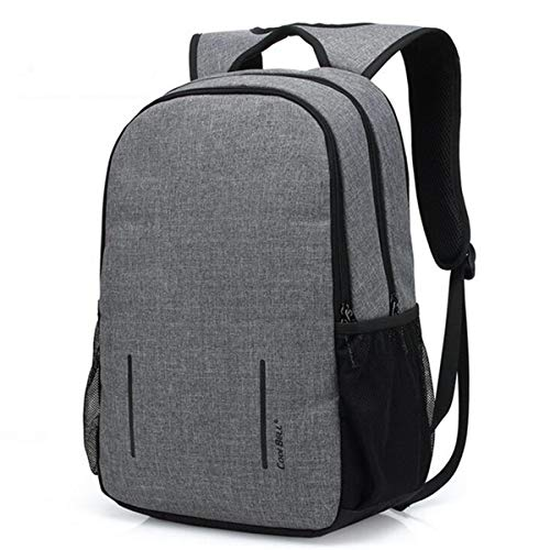 Backpack IBHT Anti-thief Fashion Men Backpack Multifunctional Waterproof 15.6 inch Laptop Bag Man USB Charging Travel Bag for 15.6/17.3 inch Laptops Grey, Size : 15.6 Inch