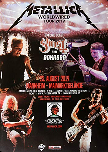 Metallica - Worldwired, Mannheim 2019 » Konzertplakat/Premium Poster | Live Konzert Veranstaltung | DIN A1 «