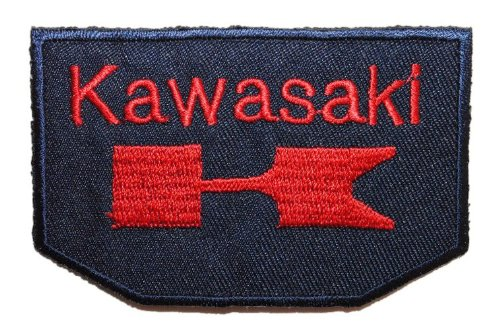 alles-meine.de GmbH Kawasaki 8,4 cm * 5,4 cm Bügelbild Aufnäher Applikation Motorrad Fahrzeug Motorräder Japan Ninja