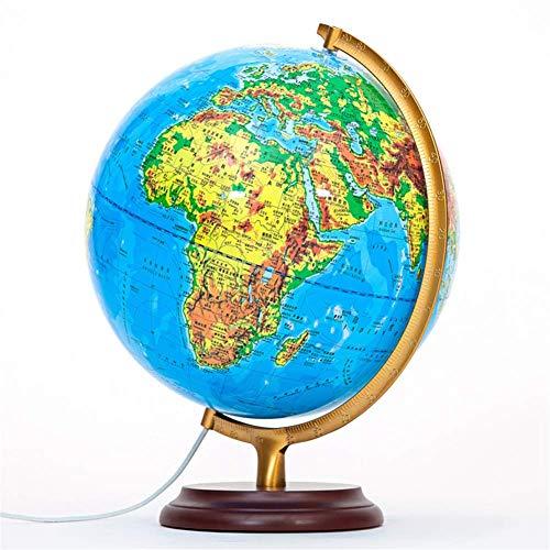 L.HPT Globen für Kinder , Beleuchtete Weltkugel, Erdkugel für den Desktop-Geografieunterricht Eingebaute LED-Beleuchtung für die Nachtsicht Dekorationen für das Büro zu Hause Ornamente