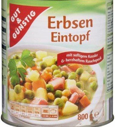 G&G Erbsen Eintopf mit Kasselner - Schulter und Rauchspeck 6er Pack 6 x 800g