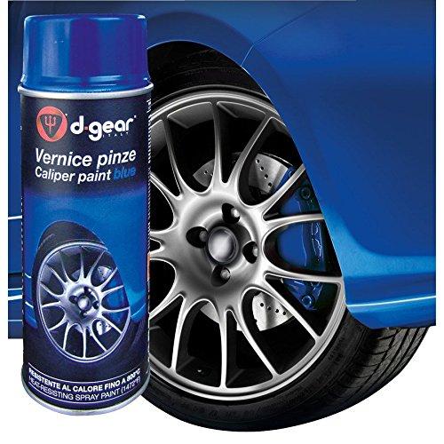 D-GEAR 1210105 Pellicole Vernice Alta Temperatura e Pinze Freno, Blu, 400 ml