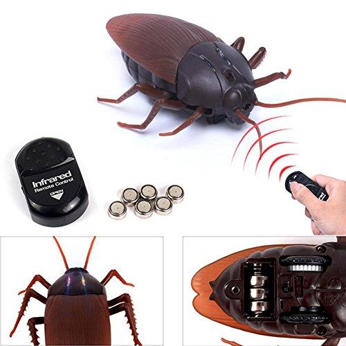 Espeedy Control remoto cucaracha,Control remoto simulacro falso cucaracha juguete broma bichos broma miedo truco errores