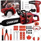 Awefrank Kids Tool Set 36Pcs Electric Toy Chainsaw and...