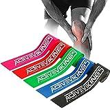 ActiveVikings Cinta Floss + bolsa, 2 m, ideal para fisioterapia, tratamiento de puntos gatillo y automasaje, perfecta para deporte y fitness, cinta de compresión (rosa)