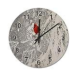 Tamengi Cardinal In Winter - Reloj de pared redondo, rústic