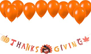 Thanksgiving Banner, Thankful Happy Thanksgiving Turkey Maple Leaves Pumpkin Fall Theme Party Supplies Decorations