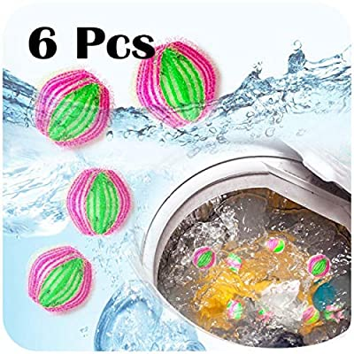 6pcs Reusable Hair Catcher Washing Laundry Balls Home Washing Laundry Tools Clothing Care Pet Hair Fur Lint Remover