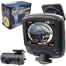 360度 全方位 完全録画 ドライブレコーダー SONY CMOS センサー バックカメラ付属 ドラレコ GPS 2.7インチ あおり運転 対策 前後 時計合わせ不要 Gセンサー 360°ドラレコ WDR ノイズ対策 日本 マニュアル付属