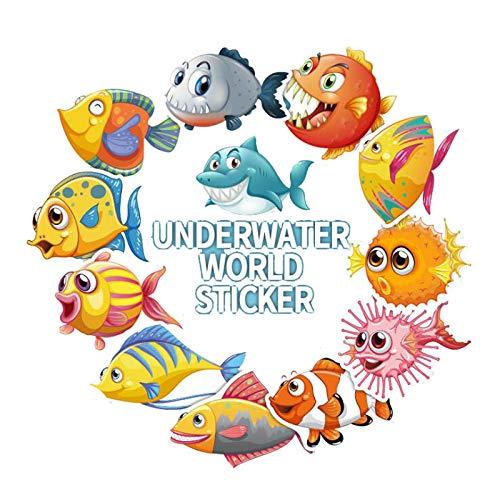 Inveroo 40 Unids Bajo El Agua Mundo Lindo Dibujos Animados para ...