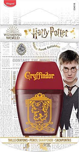 Maped Harry Potter - Sacapuntas con depósito y 1 agujero para niños - Ergonómico y diseño - License Harry Potter Oficial...