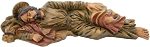 Statue of Sleeping St. Joseph | Patron Saint of The Universal Church, Unborn Children, Fathers, Workers, Travelers, Immigrants, and a Happy Death | 6 inches long 1.5 inches tall