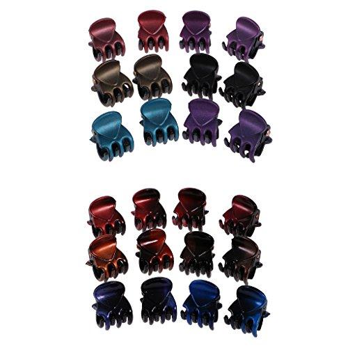 chiwanji 24 Pièces En Gros Lady Girl Mini Cheveux Résines Griffes Pinces Pinces - Couleur Mixte #1