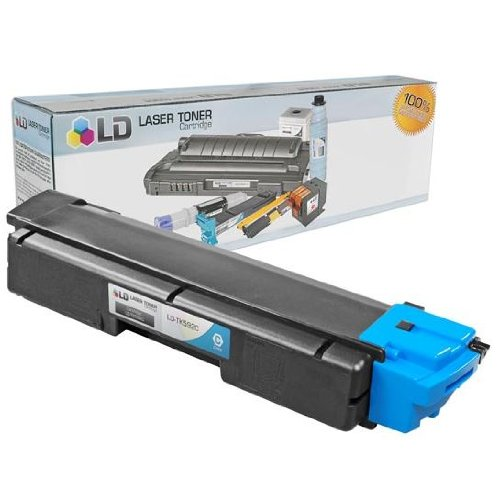 LD Compatible Toner Cartridge Replacement for Kyocera TK-592C (Cyan)