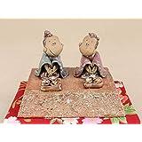 - 太古窯 家門作 - 雛人形 一段飾り(琉球風) 【陶器置物動物】【盆栽小道具】