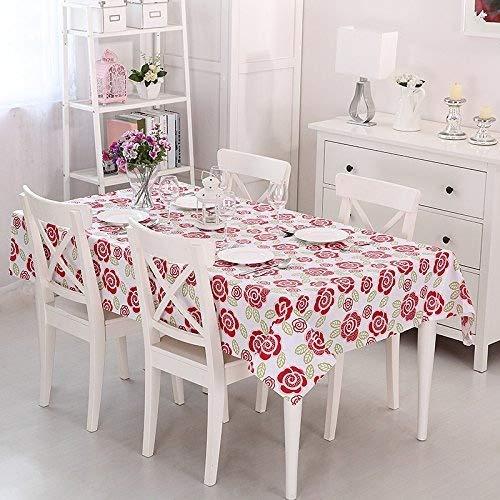 Vinylla Mantel para mesa (PVC, fácil limpieza), diseño de rosas - Large(90 x 70)