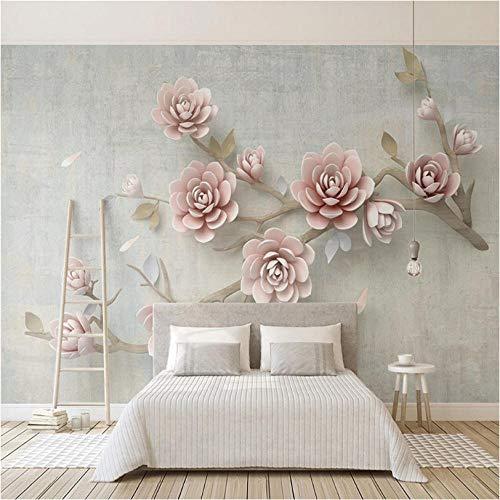 3D wallpaper modern stereotbehang bloemen takken fotobehang woonkamer TV slaapkamer wooncultuur zelfklevende 3D-sticker 140 x 100 cm.