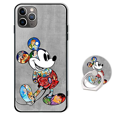 Disney Phone Case for iPhone 11 Pro Max with Ring Holder Kickstand,Soft TPU Rubber Silicone Protective Cover for iPhone 11 Pro Max 6.5 inch - Mickey Mouse