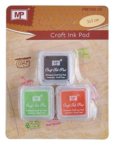MP PM198-05 - Pack de 3 tintas de scrapbooking